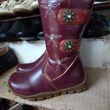 Кожаные зимние ботинки на девочку 26р Распродажа