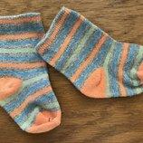 0-3 мес снежные носочки в полоску, унисекс