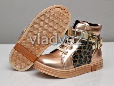 Детские демисезонные ботинки для девочки золото 22р-25р 3885