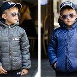 Куртка двухсторонняя на мальчика демисезонная