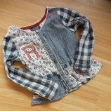 Фирменная блузка Next малышке 2-3 года состояние отличное