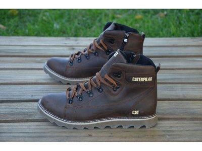 Мужские кожаные зимние ботинки CAT Expensive Chocolate