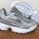 Кроссовки Fila Disruptor 2 серебро размера 38-39-41