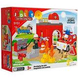 Конструктор JDLT 5151 Пожарная станция. 32 детали, свет и звук.