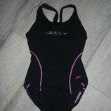 Speedo endurance, оригинал черный антихлорный купальник для плавания 164 см
