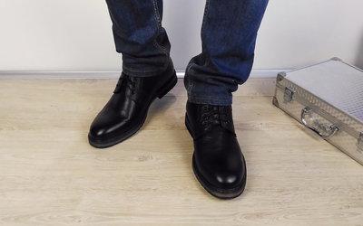 Фабричные кожаные зимние мужские ботинки Bonis. Качество - отличное.