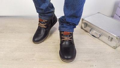 Зимние мужские ботинки Comfort натуральная кожа, густой слой набивной  шерсти. 2d2da216e9f