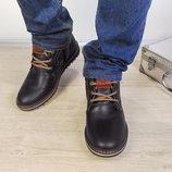 Зимние мужские ботинки Comfort натуральная кожа, густой слой набивной шерсти.