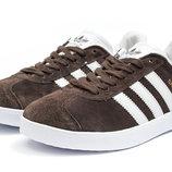 Кроссовки мужские Adidas Gazelle, коричневые, код kv-14132