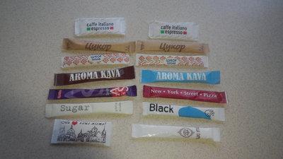 Сахар цукор в стиках коллекционный