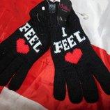 Стильние фирменние варежки рукавици перчатки бренд S.Oliver С.Оливер s-m-l