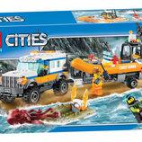 Конструктор Bela Cities 10753 Внедорожник 4х4 команды быстрого реагирования аналог Lego City 60165