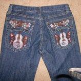 джинсы с вышивкой Barbarella 27 размер