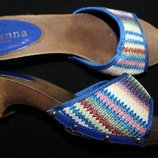 38 разм. Шлепки Wanna moda Espanola. Очень красивые. Новые длина по вн. стельке 24,5 см., ширина по