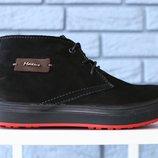 Мужские зимние ботинки замшевые