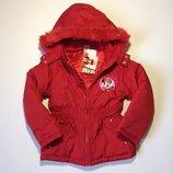 Зимняя детская куртка Disney на девочку 2,6,10 лет