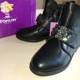 Осенние демисезонные ботинки на девочку Tom.m р32 33 35 36 37 стильные модные красивые школу классич