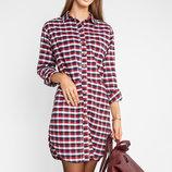 Теплое платье-рубашка