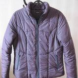 Куртка женская демисезонная на синтепоне утепленная In Extenso Ашан р.M-L наш 46 фиолетовая осенняя