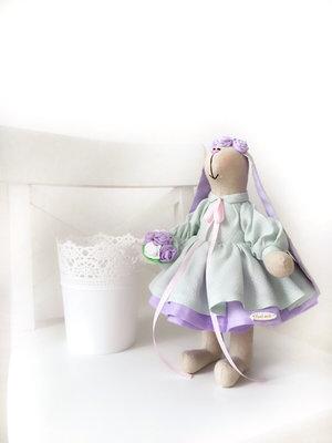 Зайка заяц тильда игрушка кукла подарок дочке маме любимой коллеге свадьба