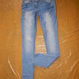 р.164-170, поб 42-44, узкачи рванки укороченные джинсы скинни F&F