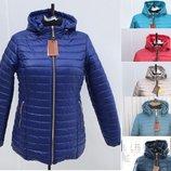 54-70рр Фабричная женская стеганная куртка демисезон
