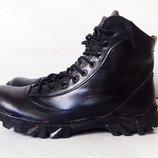 Ботинки из натуральной кожи, демисезон, трекинговые, прошитые, 41-45 размеры