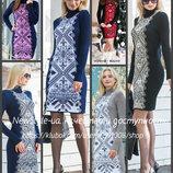 вязаное теплое платье, Вязанные платья , вышиванка. люкс качество, этно платье