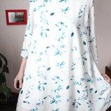 Белое платье в цветы трапеция 38 размер цветочное платье only