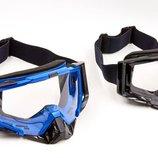 Мотоочки с прозрачным визором Jie Polly J027-1 2 цвета, акрил пластик