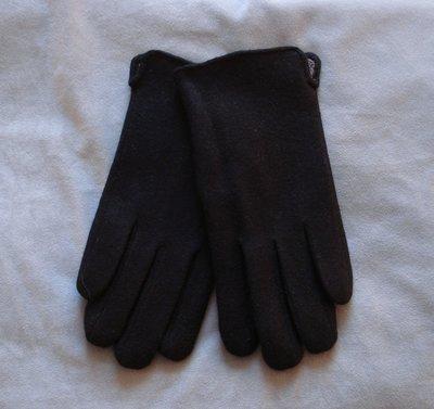 Кашемировые черные мужские перчатки Мария размер 10
