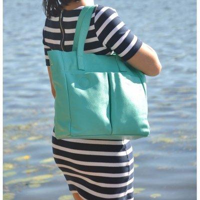 0515dfe7253f Натуральная кожа Кожаная женская сумка Палермо бирюзовая. Previous Next