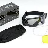 Очки тактические со сменными линзами X800 2 линзы, прозрачный визор