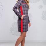 Стильное ровное платье с модным принтом 1023 до 54размера