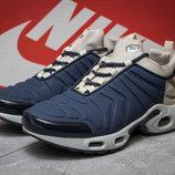 Кроссовки Nike Tn Air, синие, замша, 40,41,42,43,44,45,46 размер
