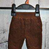 Штаны на мальчика 56 см, демисезонные штаны на новорождённого мальчика, вельветовые штаны 56 см