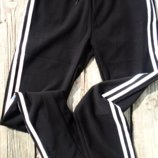 с 46по56р Повседневные черные спортивные брюки штаны с лампасами