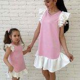 Комплект платьев мама дочка фемели лук