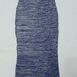 H&m юбка теплая силуэтная м меланж лапша