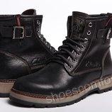 Кожаные зимние ботинки Clarks Desert Urban Black M - 1702