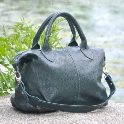 d73087e3b582 Натуральная кожа Кожаная женская сумка Барселона темно-зеленая: 1308 ...