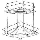 Полка в ванную угловая STENSON 25.5 25.5 32.8 см