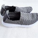 Серебряные кроссовки из резинки от Papaya