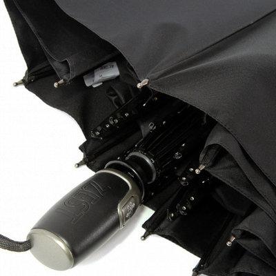 Стильный мужской зонт ZEST полн авт 13850 ручка кожа