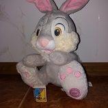 Мягкая игрушка зайчик Топотун персонаж из мультфильма Бэмби Бемби Дисней Disney оригинал клеймо.
