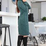 Платье Ткань Ангора-Софт Съемная Цепочка С Кулоном Длина Изделия 96СМ,ДЛИНА Рукава 64