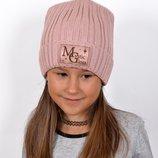 Блестящая Зимняя Шапка на Флисе для Девочек-Подростков Мистик Ог 53-56 от 6 лет