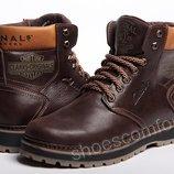 Кожаные зимние ботинки Clarks Originals Motor Trade M - 1805 Brown