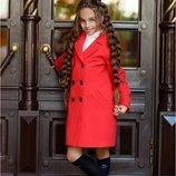 Детское пальто Машуля Размеры 134, 140, 146, 152