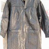 с торгом - кожаное пальто на кнопках L Индия